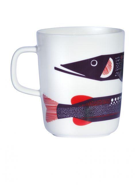 Oiva/Hauki mug (white, violet, red) | Décor, Kitchen & Dining, Dinnerware, Kupit ja mukit | Marimekko