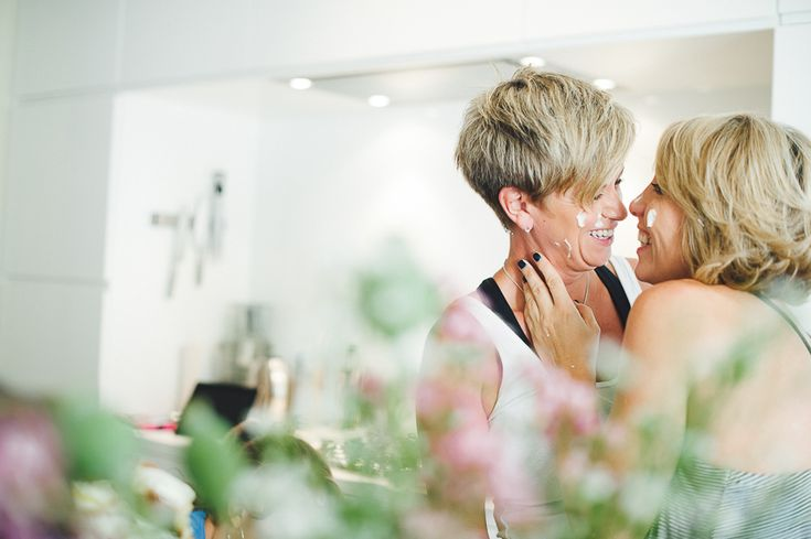Brussels, Belgium: Jeanette & Jane #food fight #engagement photos #lesbian couple