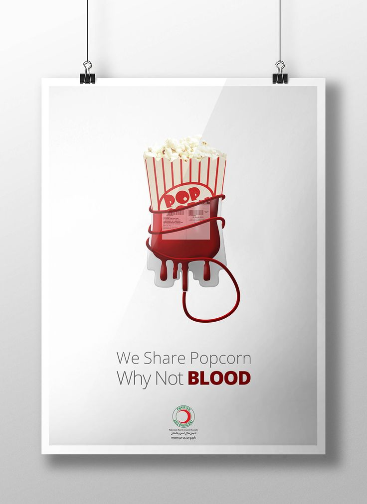 Creative blood donation poster
