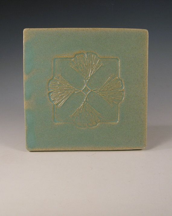 arts and crafts, mission style ginko leaf tile