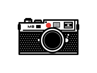 graphic illustration of a Leica camera