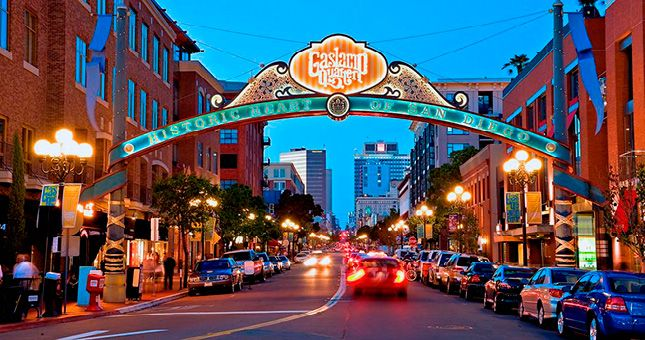 The Gaslamp District in San Diego