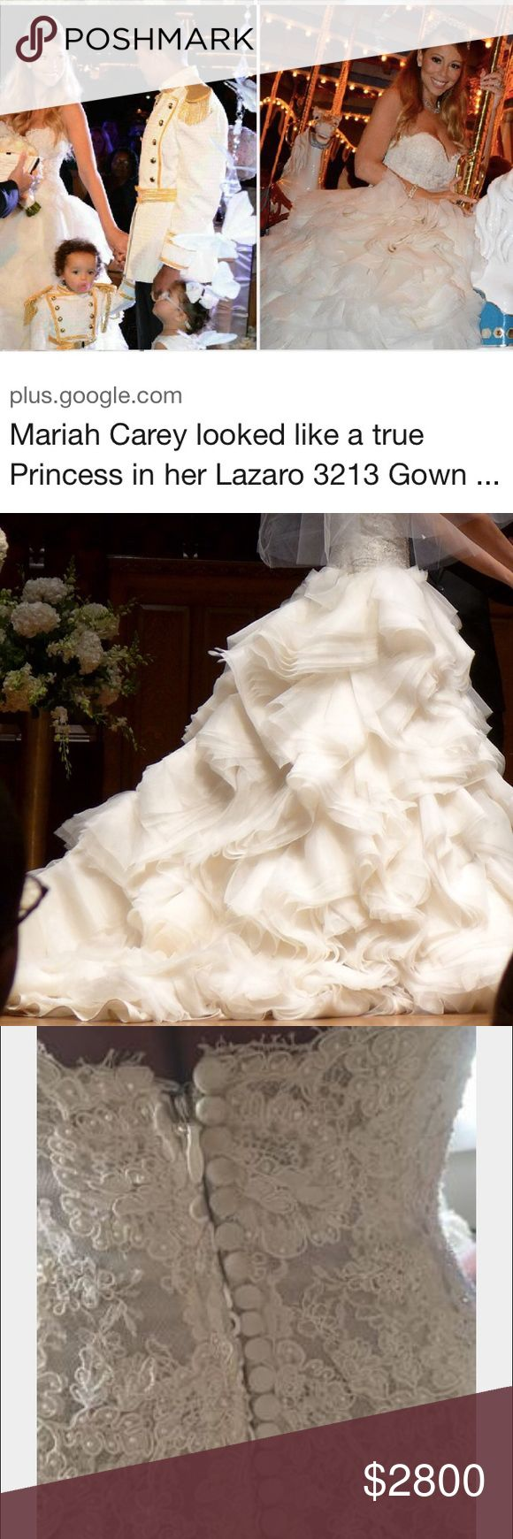 Additional pictures of the ivory Lazaro 3213 As worn by Mariah Carey Lazaro Dresses Wedding