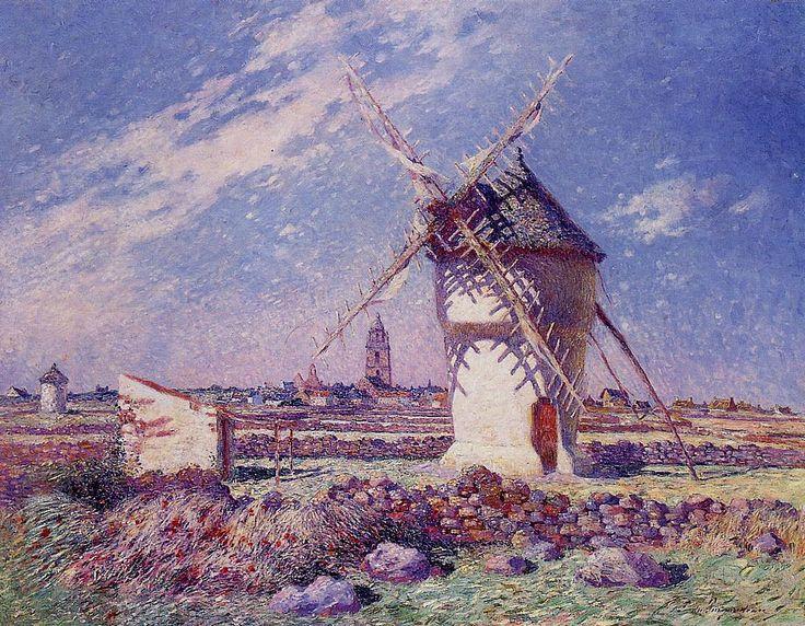 Ferdinand du Puigaudeau - Windmills near the Town of Batz