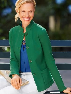 The Stand-Collar Jacket - Talbots