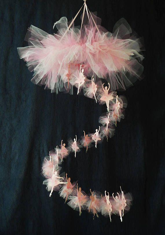 Bailarina móvil en cascada ballet vivero grande móvil móvil