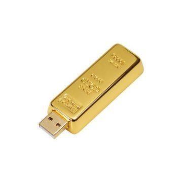 Clé USB 2Go Lingot d'or Couleur Doré Matière Métal