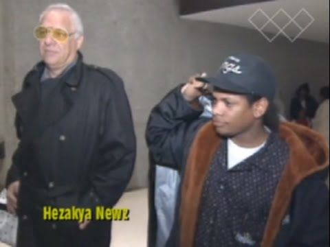RARE 1991 THROWBACK: Eazy E and Jerry Heller Arrive In Washington D.C. F...