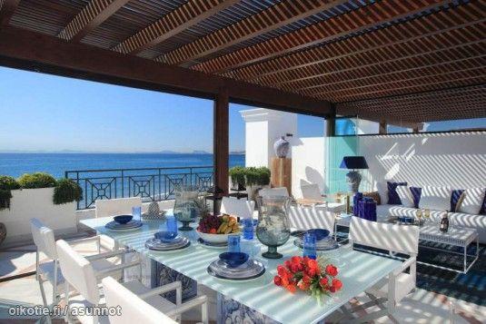 Unelmien Asunnot -blogissa: Terassielämää etelän lämmössä  #unelmienasunnot #oikotieasunnot #terassi #patio