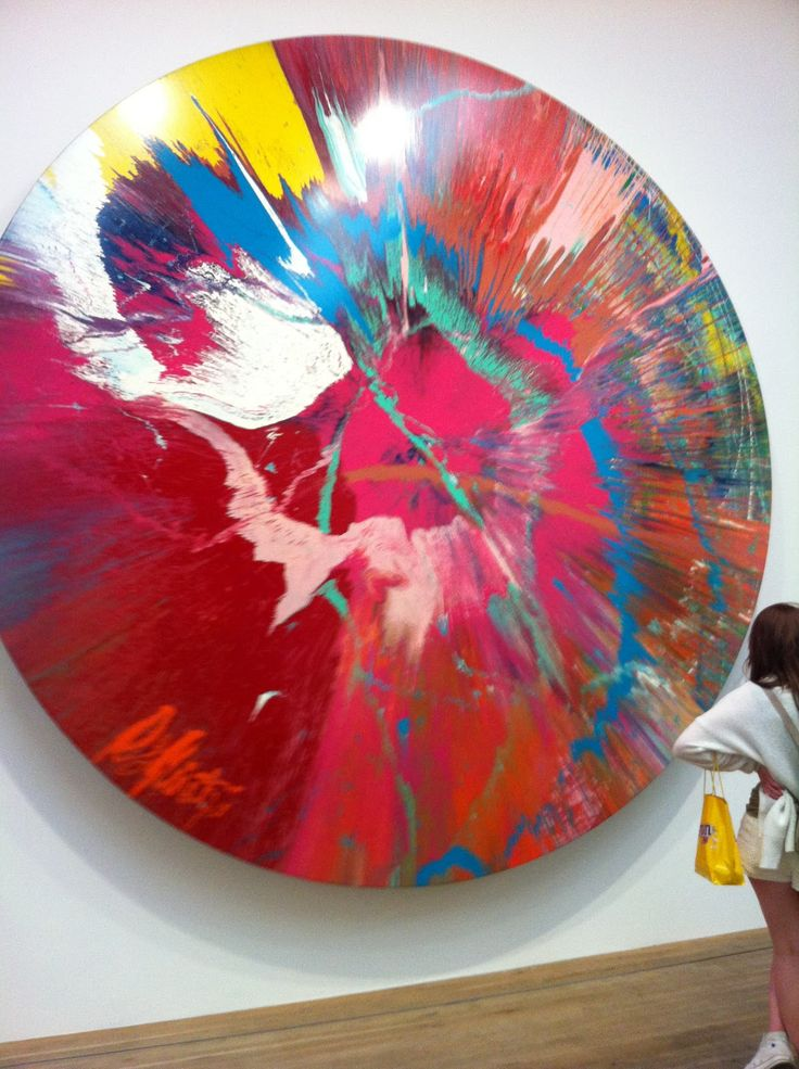 This is Spin Paintings, where each canvas is spun on a ...