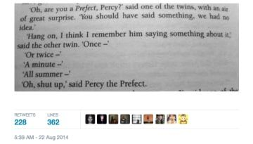 Fred and George are the best and they aren't in the movies enough