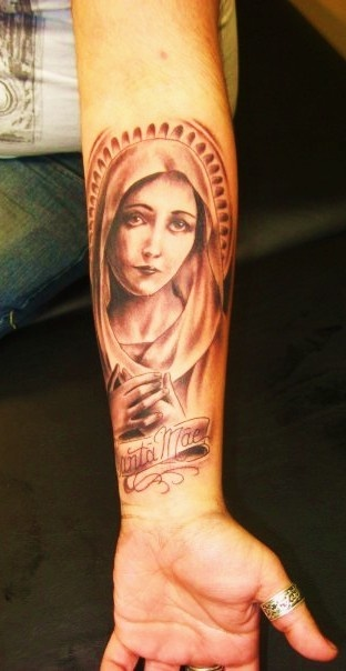 virgin mary #tattoo this is exactly where I want mine placed!!