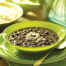 Black Bean Soup with Rice, Spanish style
