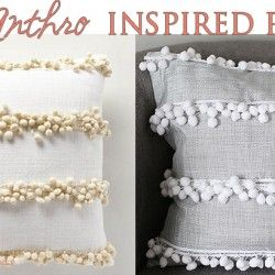 DIY Anthro Inspired Pillow Covers! This darling tutorial is new-sew and easy to make!