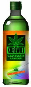 """Licor de marihuana // El invento procede de Holanda, en donde el consumo de cannabis no está penado por la ley. Se llama Kierewiet y posee un 14,5 % de alcohol. La bebida tiene un color verde electrizante y la etiqueta va sin vueltas: tiene el dibujo de una hoja de marihuana. Se vende en locales de delicatessen de Amsterdan y cuesta 11 dólares. Lo recomiendan para después de las comidas, como """"digestivo"""""""