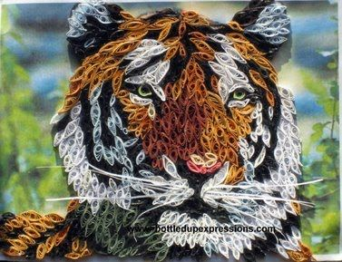 Quilling Art Gallery | The Tiger below is my own creation!!