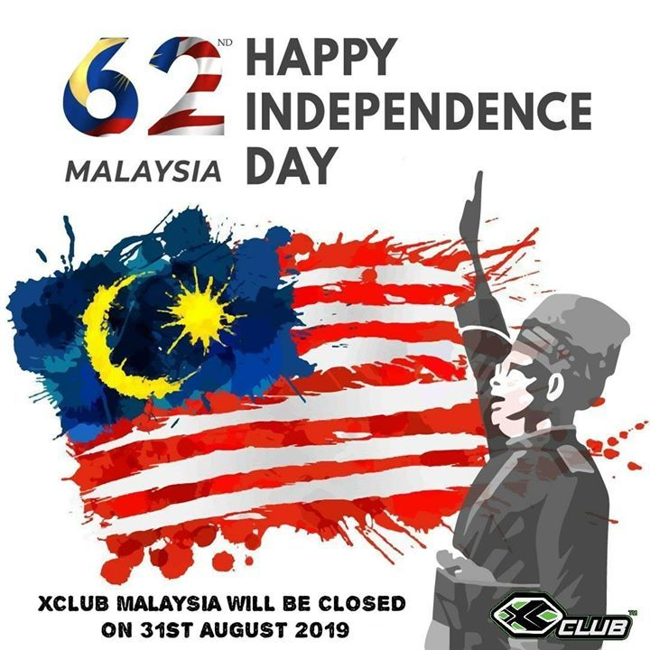 Selamat Menyambut Hari Kemerdekaan Malaysia Ke 62 Merdeka Independence Day Poster Happy Independence Day Malaysia Flag