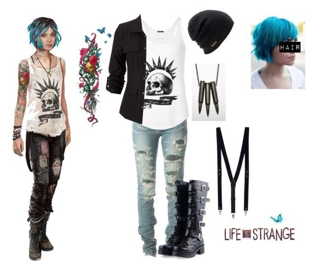 """""""Chloe Price Cosplay"""" by livyv123 ❤ liked on Polyvore featuring Yves Saint Laurent, Coal and Topman"""