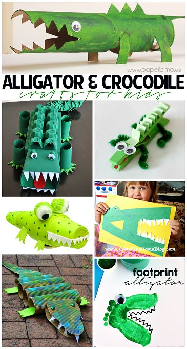 Creative Alligator & Crocodile Crafts for Kids to Make! | CraftyMorning.com