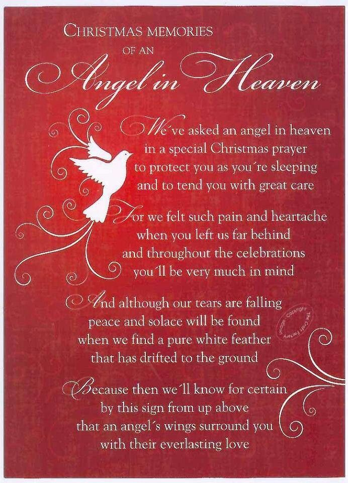 Christmas memories of an angel in Heaven