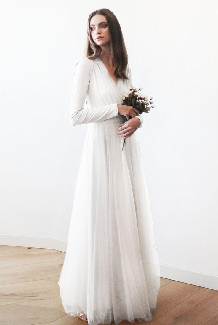50 Beautiful Long-Sleeved Wedding Dresses: Blush Fashion Oscar Wedding Dress