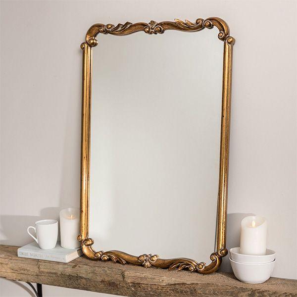 Kasandra Antique Gold Scroll Wall Mirror Gold Mirror Bedroom Gold Mirror Wall Vintage Gold Mirror Antique gold wall mirror