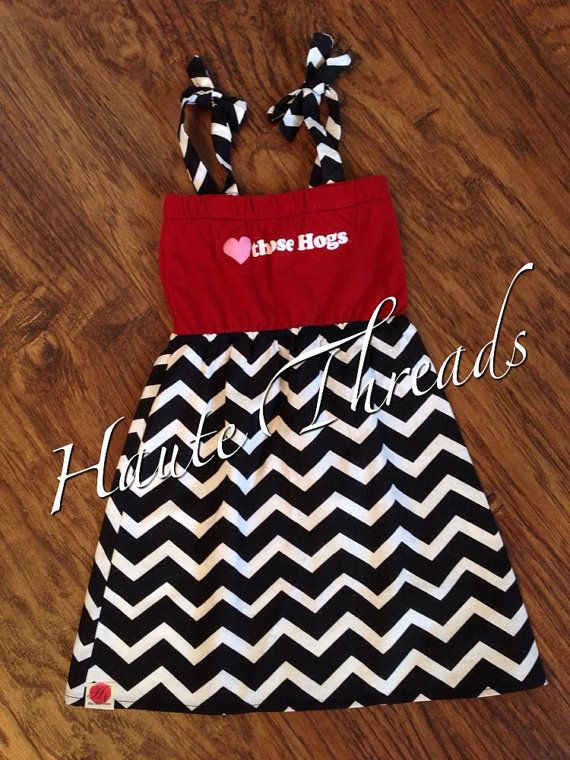 GIRLS Arkansas Razorbacks HOGS Football by hautethreadsboutique, $40.00