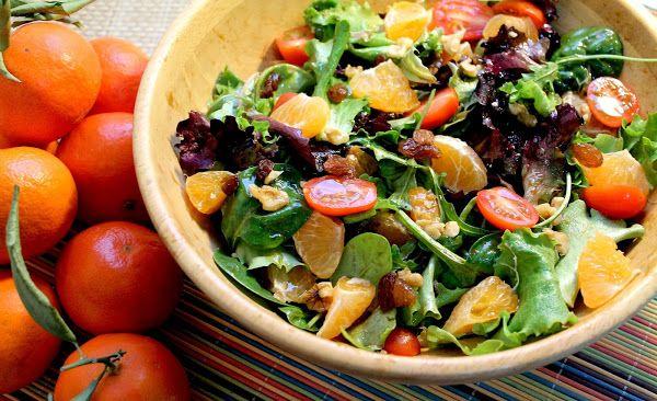 Ensalada de mandarinas y cherrys con vinagreta de cítricos | Cocinar en casa es facilisimo.com
