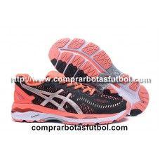 Tienda Zapatillas De Running Asics Gel Kayano 23 Mujer Negro Plateado Naranja