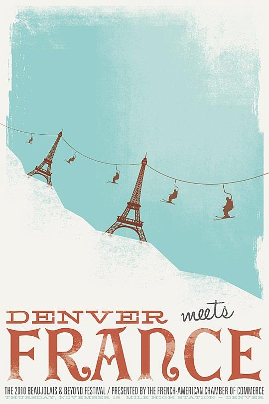 J'aime La France ski poster