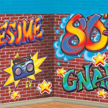 80 39 s graffiti backdrop backgrounds 80s party - I love 80s wallpaper ...