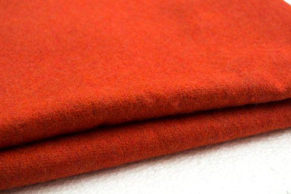 Orange felt fabric  Wool felt by the yard by fabWorldFabrics,