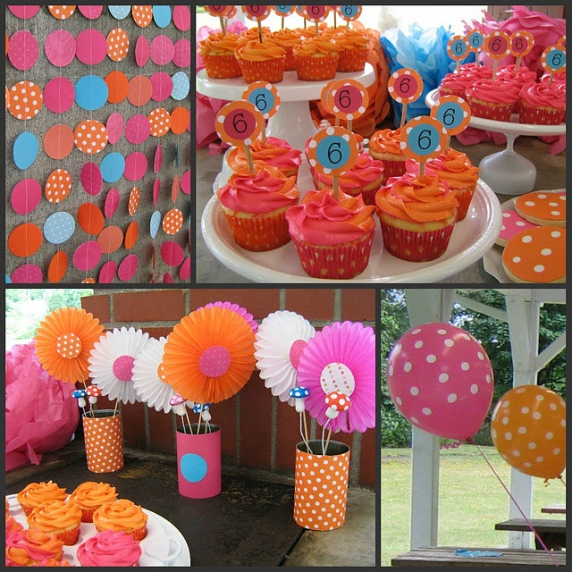 A Cupcake Themed 1st Birthday Party With Paisley And Polka: 31 Best Images About Polka Dots & Stripes Theme Party On