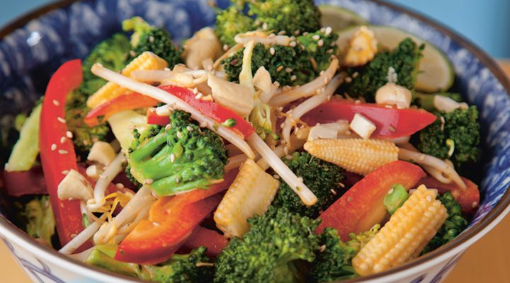 Asian Broccoli Salad in a Sweet Chilli Sauce