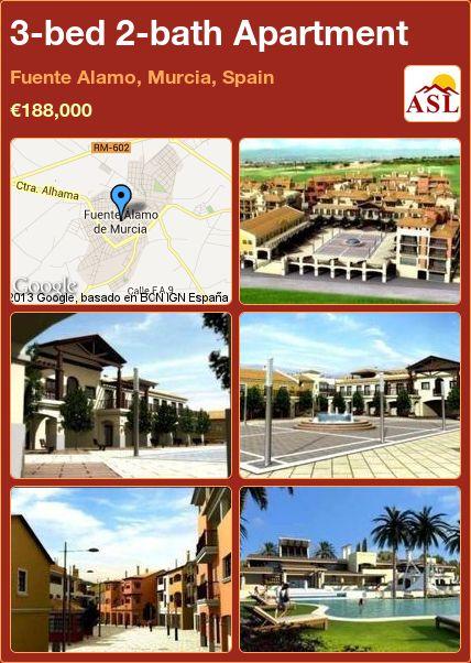 3-bed 2-bath Apartment in Fuente Alamo, Murcia, Spain ►€188,000 #PropertyForSaleInSpain