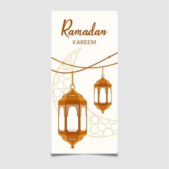 Ramadan Kareem Banner With Lantern Decoration Ramadan Kareem Lanterns Decor Ramadan