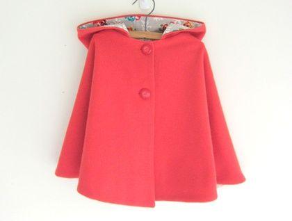 Child wool cape