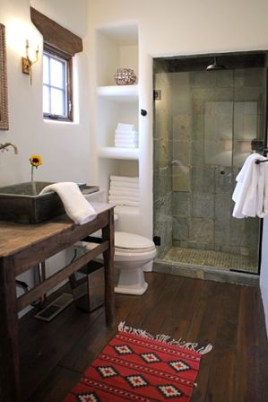 17 best images about santa fe inspired on pinterest for Santa fe style bathroom ideas