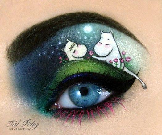 Incredible Makeup Art Turns Eyelids into Storybook Scenes