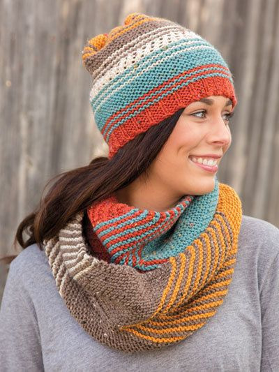 A great knitting pattern for hat and scarf
