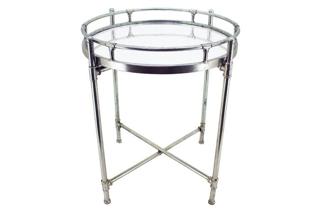 Dina Silver Side Table