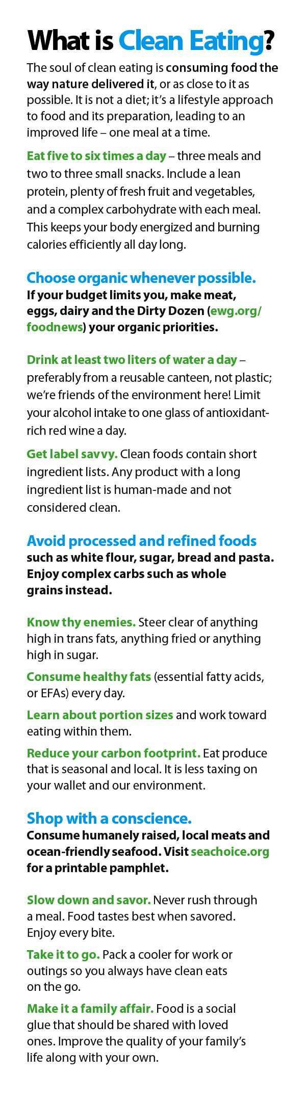 Confused about clean eating? Here are the guidelines to follow. http://www.cleaneatingmag.com/food-health/food-and-health-news/what-is-clean-eating/