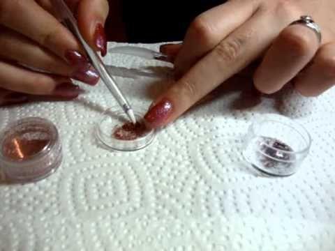 Come fare uno sfumato glitter con due colori.wmv - YouTube