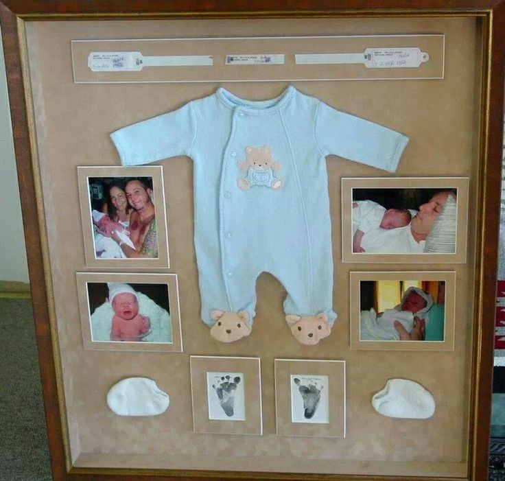 Cute way to save baby's first day. Hang in nursery