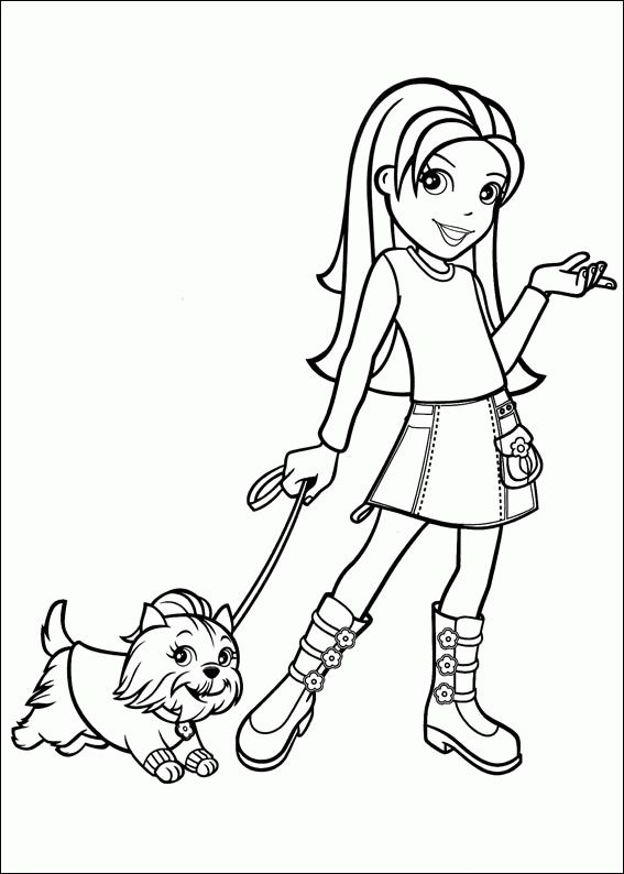 polly pocket colouring page
