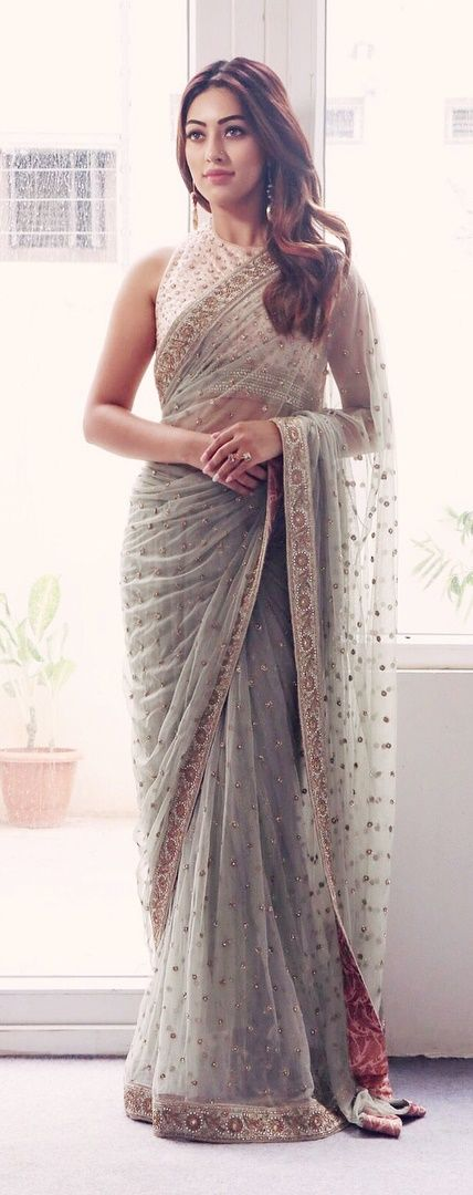 Actress Anu Emmanuel in a saree by French Curve for an event #frenchcurve #anuemmanuel