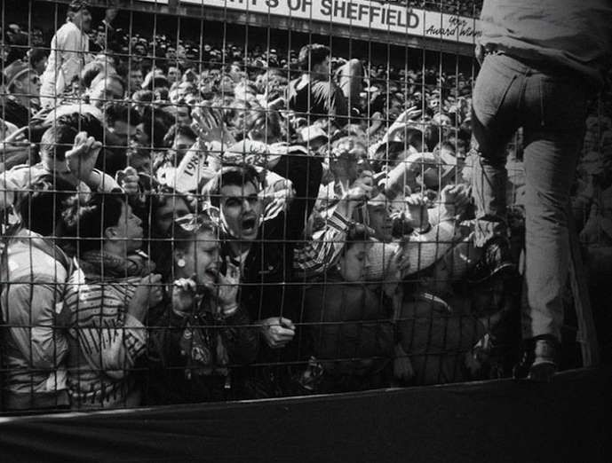 A stampede breaks out during the FA Cup semi-final match at Hillsborough Stadium in Sheffield, En... - photosofwar.net