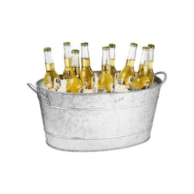 Tablecraft Galvanized Steel Oval Beverage Tub | Wayfair