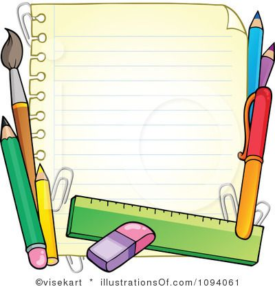 Free School Clip Art Borders | Royalty-Free (RF) School Clipart Illustration by visekart - Stock ...