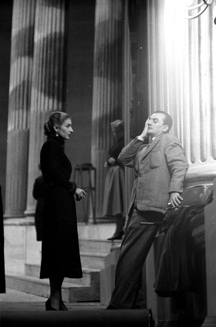 Maria Callas and Luchino Visconti during rehearsal... | ilovemovies Maria Callas and Luchino Visconti during rehearsal of La Vestale by Gaspare Spontini, Teatro alla Scala, 1954. Photo by Erio Piccagliani